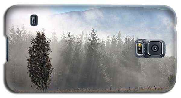 Galaxy S5 Case featuring the photograph Fog On The Road To Fintry by RKAB Works