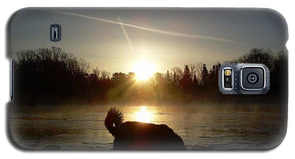 Fog Over Mississippi River Galaxy S5 Case by Kent Lorentzen