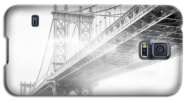 Architecture Galaxy S5 Case - Fog Under The Manhattan Bw by Az Jackson