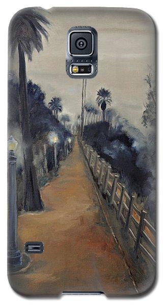 Galaxy S5 Case featuring the painting Foggy Day On Ocean Ave by Lindsay Frost