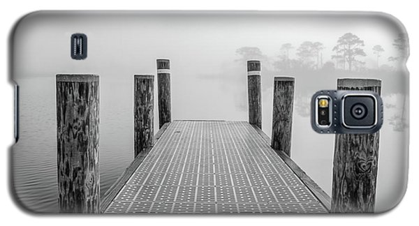 Galaxy S5 Case featuring the photograph Foggy Dock In Alabama  by John McGraw