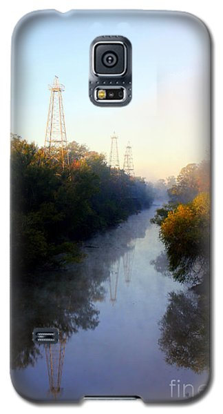 Foggy Fall Morning On The Sabine River Galaxy S5 Case