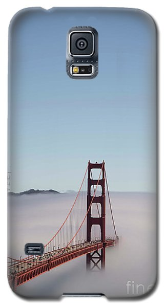 Galaxy S5 Case featuring the photograph Foggy Golden Gate by David Bearden