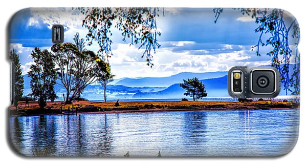 Galaxy S5 Case featuring the photograph Foggy Hills And Lakes by Rick Bragan