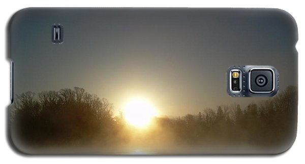 Foggy Mississippi River Sunrise Galaxy S5 Case by Kent Lorentzen