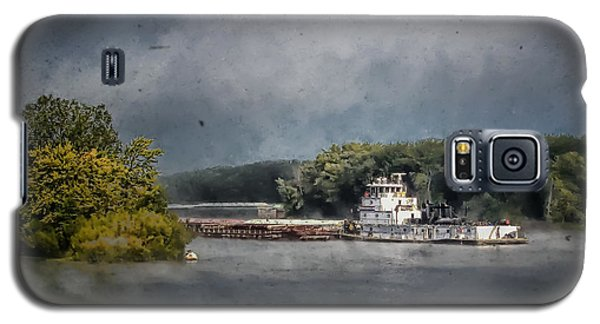 Foggy Morning At The Barge Harbor Galaxy S5 Case