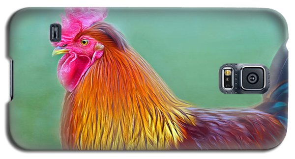 Foggy Morning Rooster Galaxy S5 Case by Marion Johnson
