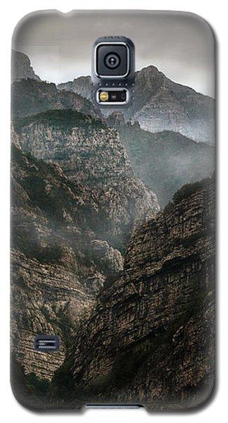 Foggy Mountains Over Neretva Gorge Galaxy S5 Case
