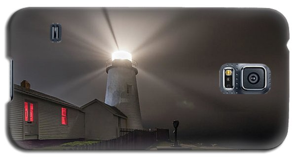 Foggy Night At Pemaquid Point Lighthouse Galaxy S5 Case