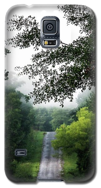 Galaxy S5 Case featuring the photograph Foggy Road To Eternity  by Shelby Young