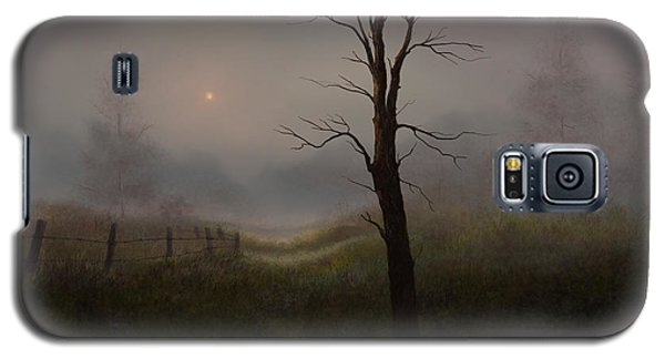 Galaxy S5 Case featuring the painting Foggy Woods by Sena Wilson