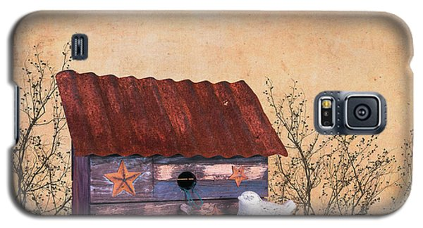 Folk Art Birdhouse Still Life Galaxy S5 Case