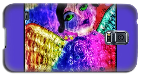 Folk Art Happy Birthday Angel Galaxy S5 Case