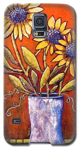 Folk Art Sunflowers Galaxy S5 Case