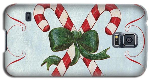 Card Galaxy S5 Case - Folk Candy Cane by Debbie DeWitt