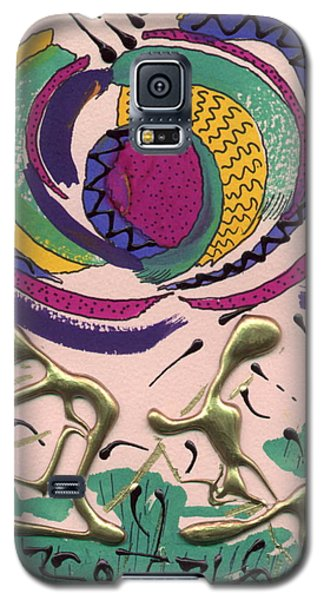 Galaxy S5 Case featuring the mixed media Follow Me by Angela L Walker