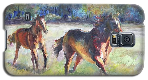 Galaxy S5 Case featuring the painting Follow Me by Bonnie Goedecke