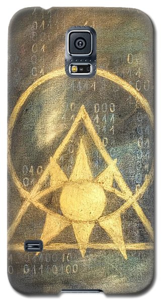 Galaxy S5 Case featuring the painting Follow The Light - Illuminati And Binary by Marianna Mills