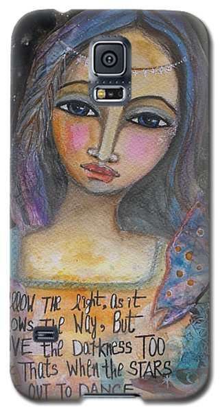Galaxy S5 Case featuring the painting Follow The Light by Prerna Poojara