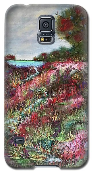 Galaxy S5 Case featuring the pastel Follow The Whispers by Vickie Scarlett-Fisher
