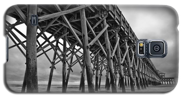 Folly Beach Pier Black And White Galaxy S5 Case