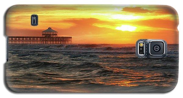 Folly Beach Pier Sunrise Galaxy S5 Case