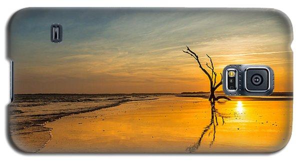 Folly Beach Skeleton Tree At Sunset - Folly Beach Sc Galaxy S5 Case