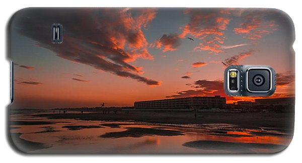 Folly Beach Sunset Galaxy S5 Case by RC Pics