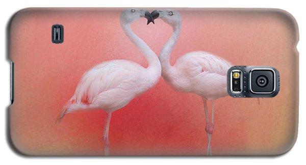 Fond Flamingos Galaxy S5 Case by TK Goforth