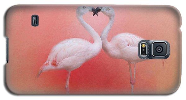 Fond Flamingos Galaxy S5 Case