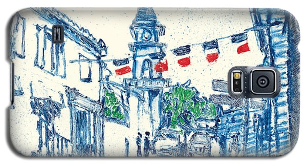 Galaxy S5 Case featuring the painting Fontvieille Village Provence by Martin Stankewitz