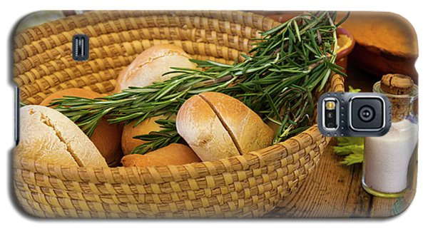 Food - Bread - Rolls And Rosemary Galaxy S5 Case by Mike Savad