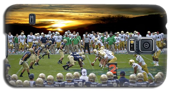 Galaxy S5 Case featuring the photograph Football Field-notre Dame-navy by Ericamaxine Price