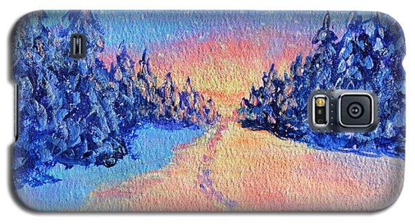 Footprints In The Snow Galaxy S5 Case by Li Newton