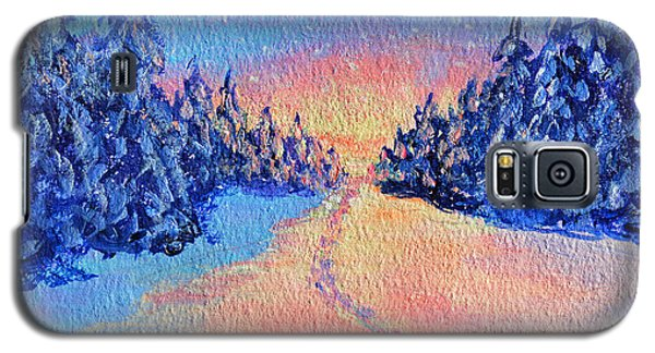 Footprints In The Snow Galaxy S5 Case