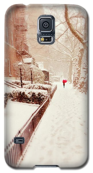 Galaxy S5 Case featuring the photograph The Red Umbrella by Jessica Jenney