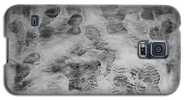Icy Galaxy S5 Case - Footprints by Scott Norris