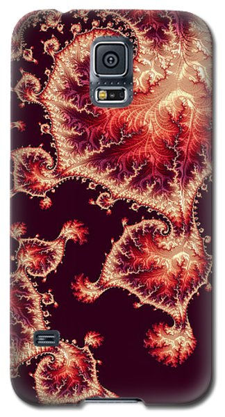 Galaxy S5 Case featuring the digital art For Love Of Autumn by Susan Maxwell Schmidt