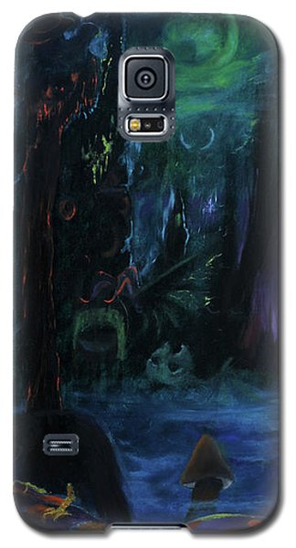 Galaxy S5 Case featuring the painting Forbidden Forest by Christophe Ennis