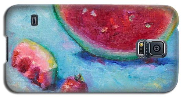 Watermelon Galaxy S5 Case - Forbidden Fruit by Talya Johnson