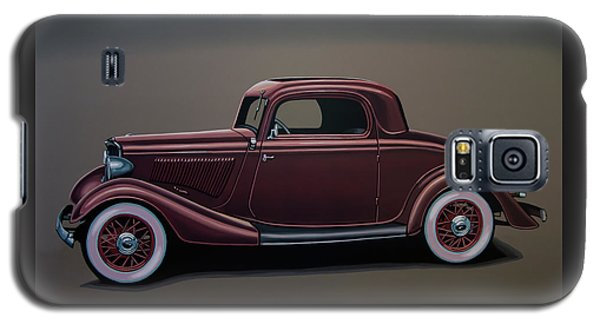 Falcon Galaxy S5 Case - Ford 3 Window Coupe 1933 Painting by Paul Meijering