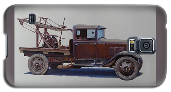 Galaxy S5 Case featuring the painting Ford A Type Wrecker. by Mike  Jeffries
