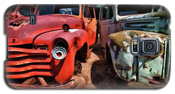 Galaxy S5 Case featuring the photograph Ford And Chevy Standoff by Jeffrey Jensen