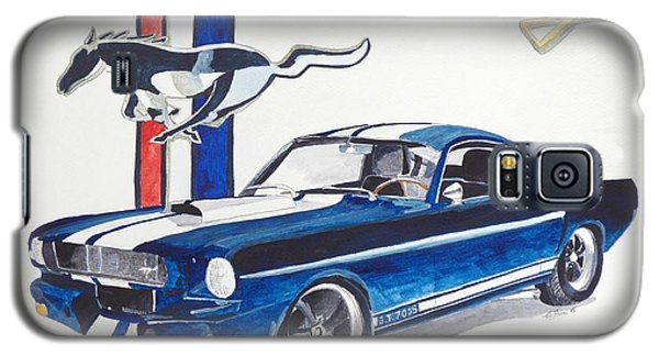 Galaxy S5 Case featuring the painting Ford Mustang by Eva Ason
