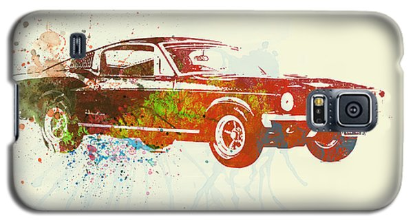 Watercolor Galaxy S5 Case - Ford Mustang Watercolor by Naxart Studio