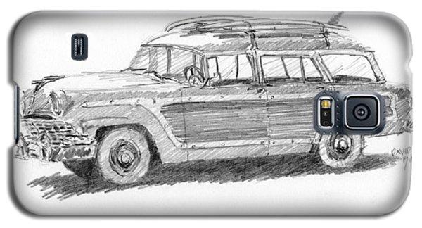Ford Wagon Sketch Galaxy S5 Case