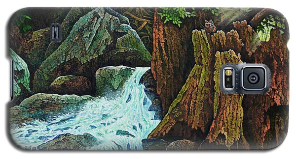 Galaxy S5 Case featuring the painting Forest Brook IIi by Michael Frank