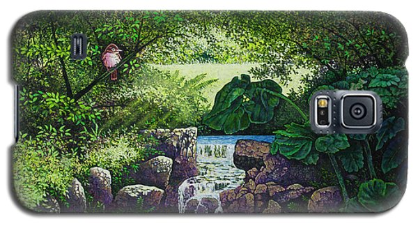 Galaxy S5 Case featuring the painting Forest Brook Iv by Michael Frank