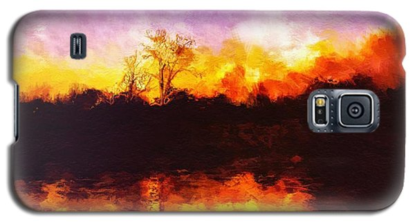Forest Fire Galaxy S5 Case