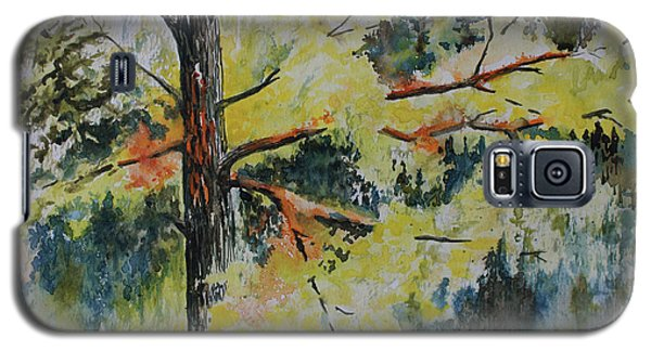 Galaxy S5 Case featuring the painting Forest Giant by Joanne Smoley